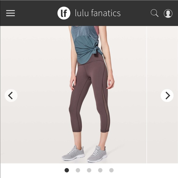 3bb1b391d62cb lululemon athletica Pants | Lululemon Crop Purple Train Times 21 ...